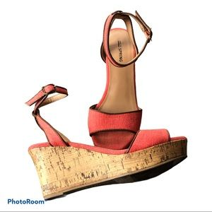 Call It Spring Women's Coral wedges